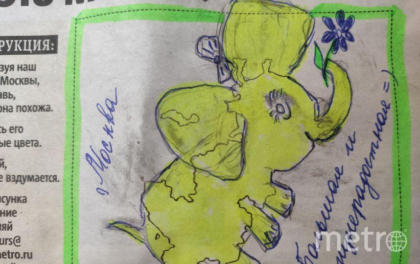 Читательница Елизавета желает всем тёплых и солнечных дней! Прям как этот слоник в очертаниях столицы. Фото Елизавета Погорелова