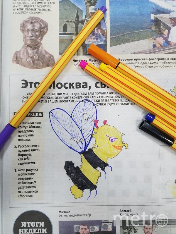 Вот такая хитрая пчёлка получилась у Александра. Фото Александр Креницкий