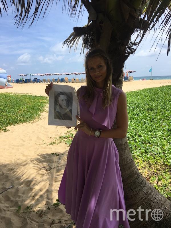 С нами А.С. Пушкин приехал в Таиланд, тёплое, очень тёплое море испытав. Экзотические фрукты ел бы смело, манго, ананасы умело. Фото Наталья Колоскова