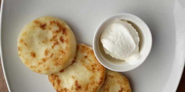 Сырники в «Кофе Хауз».