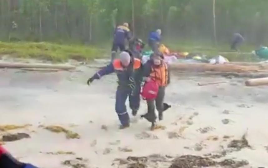 Группу туристов, пропавших в Белом море, нашли. Фото скриншот видео https://topspb.tv/