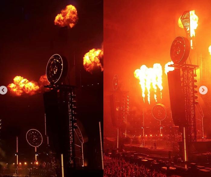 Поклоннники поделились снимками с концерта Rammstein в Петербурге. Фото скриншот https://www.instagram.com/nastya_silena/