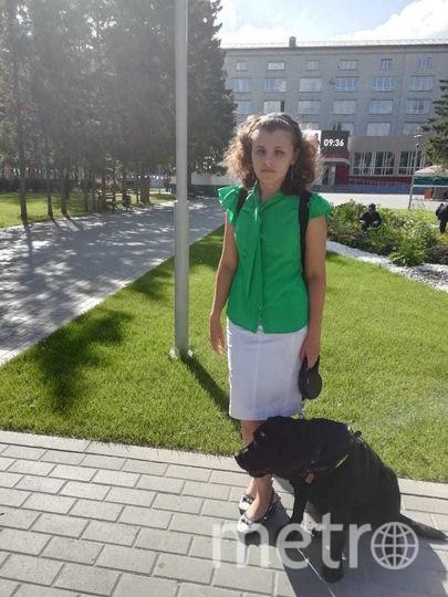 Светлана и её собака возле университета. Фото предоставила Светлана Лапатская