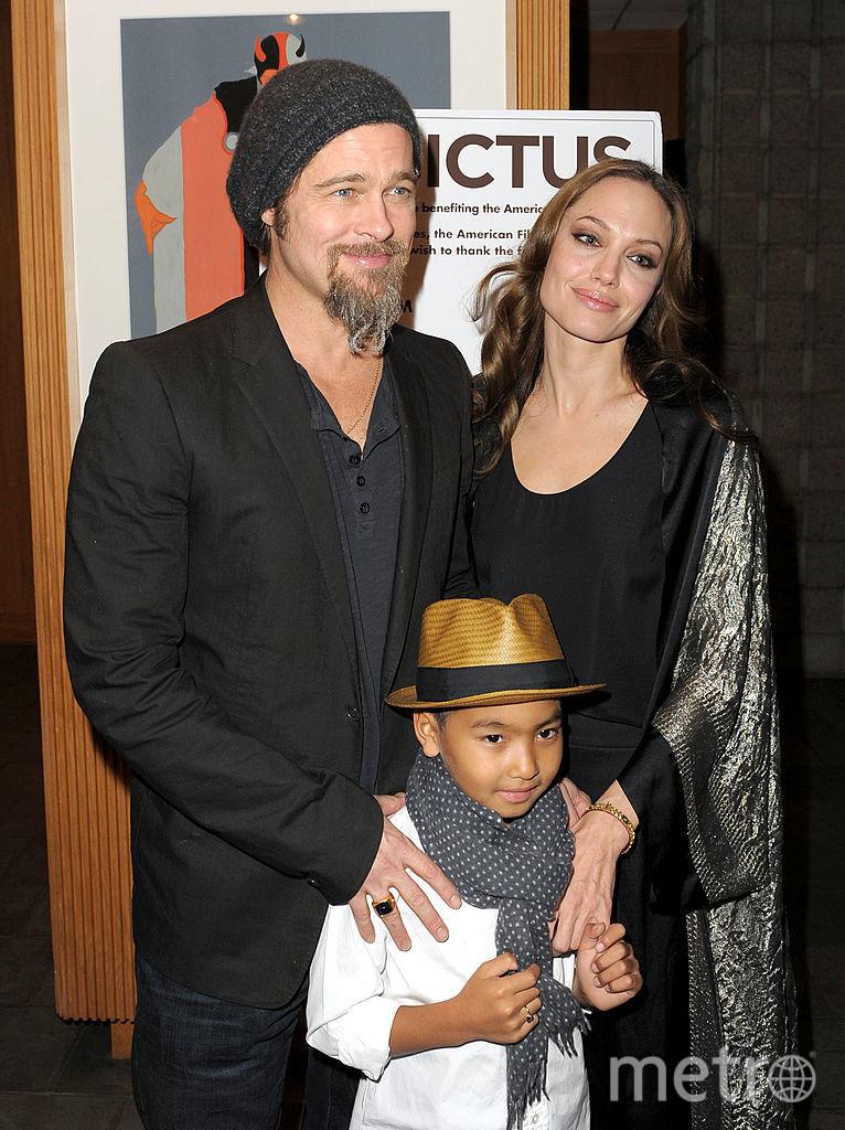 Мэддокс Джоли-Питт, Анджелина Джоли и Брэд Питт. Фото Getty