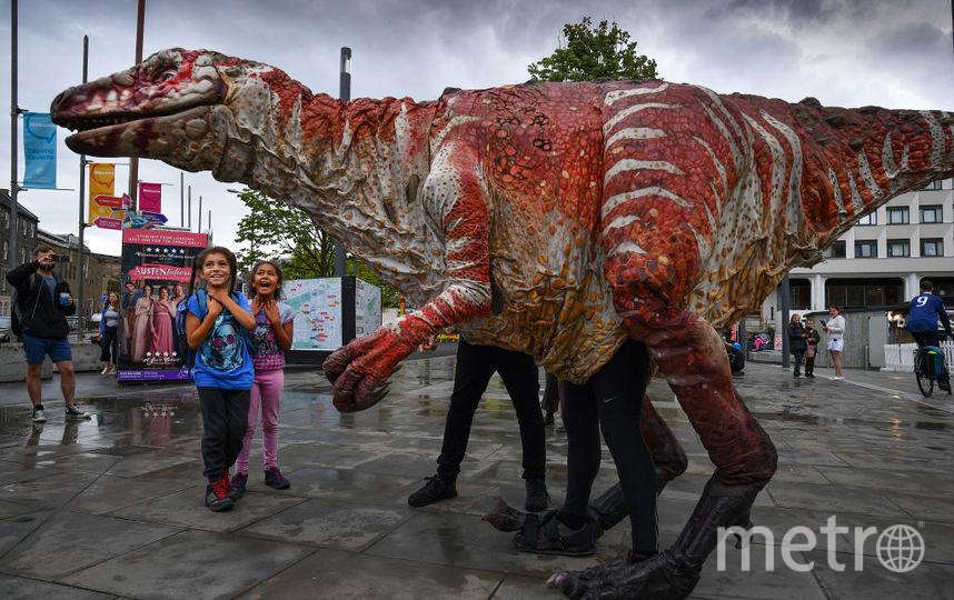Гигантская кукла выглядит как реальный динозавр. Фото Getty