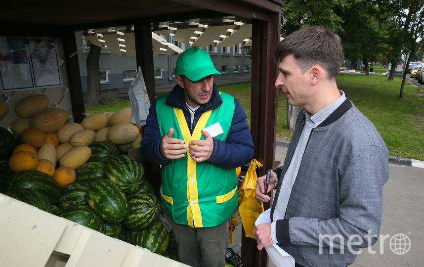 Репортёр Metro, вооружившись советами Роскачества по выбору арбуза, отправился к точке продажи и сверил их с рекомендациями торговца. Фото Василий Кузьмичёнок