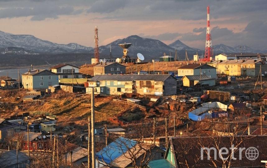 Посёлок Южно-Курильск на острове Кунашир. Фото РИА Новости