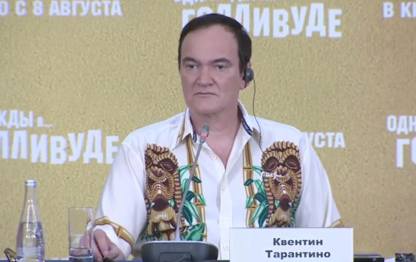 Квентин Тарантино на пресс-конференции в Москве. Фото скриншот с трансляции РИА Новости