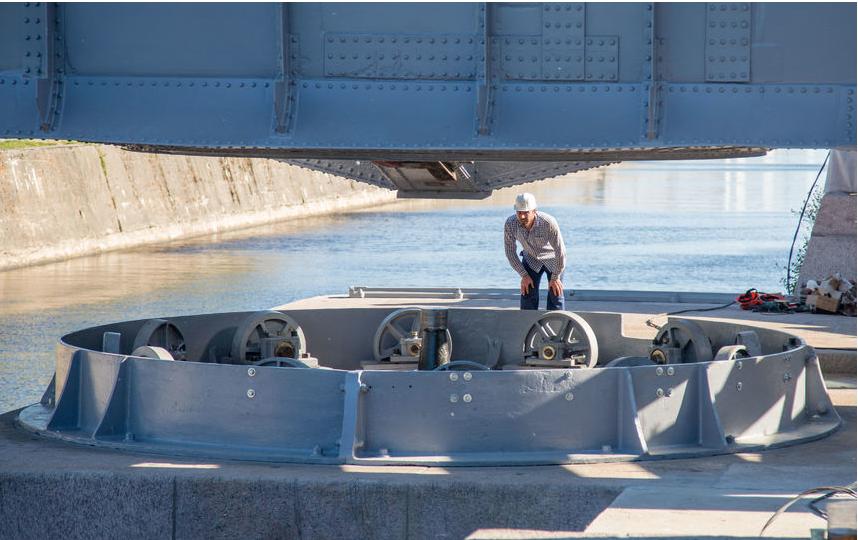 Доковый мост вернули после реставрации 26 июня. Фото gov.spb.ru
