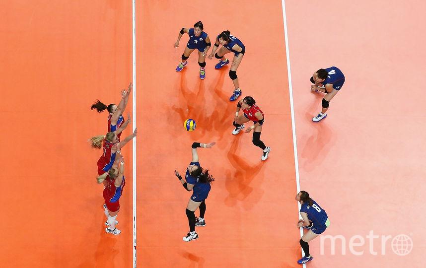 Фото с матча России и Кореи. Фото Getty
