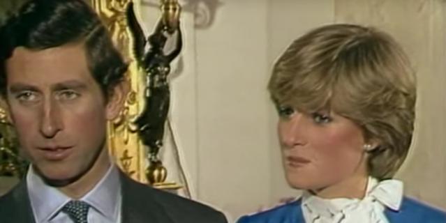 Интервью в день помолвки принца Чарльза и принцессы Дианы.