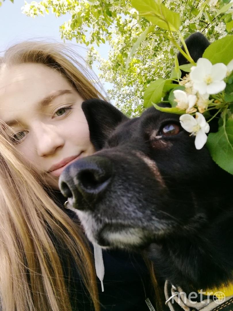 Вика и её собака Варя. Фото предоставила Виктория Яковлева