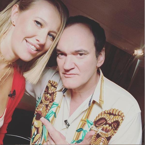 Ксения Собчак и Квентин Тарантино. Фото скриншот instagram.com/xenia_sobchak/?hl=ru