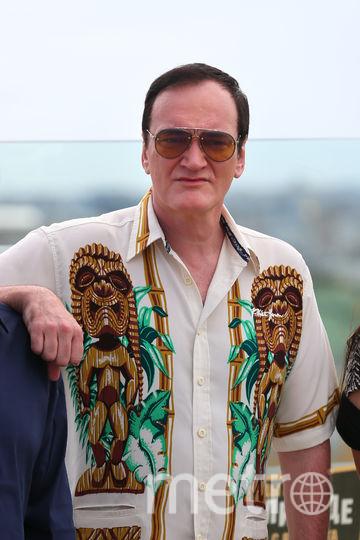 Квентин Тарантино во время фотоколла в Москве. Фото Василий Кузьмичёнок
