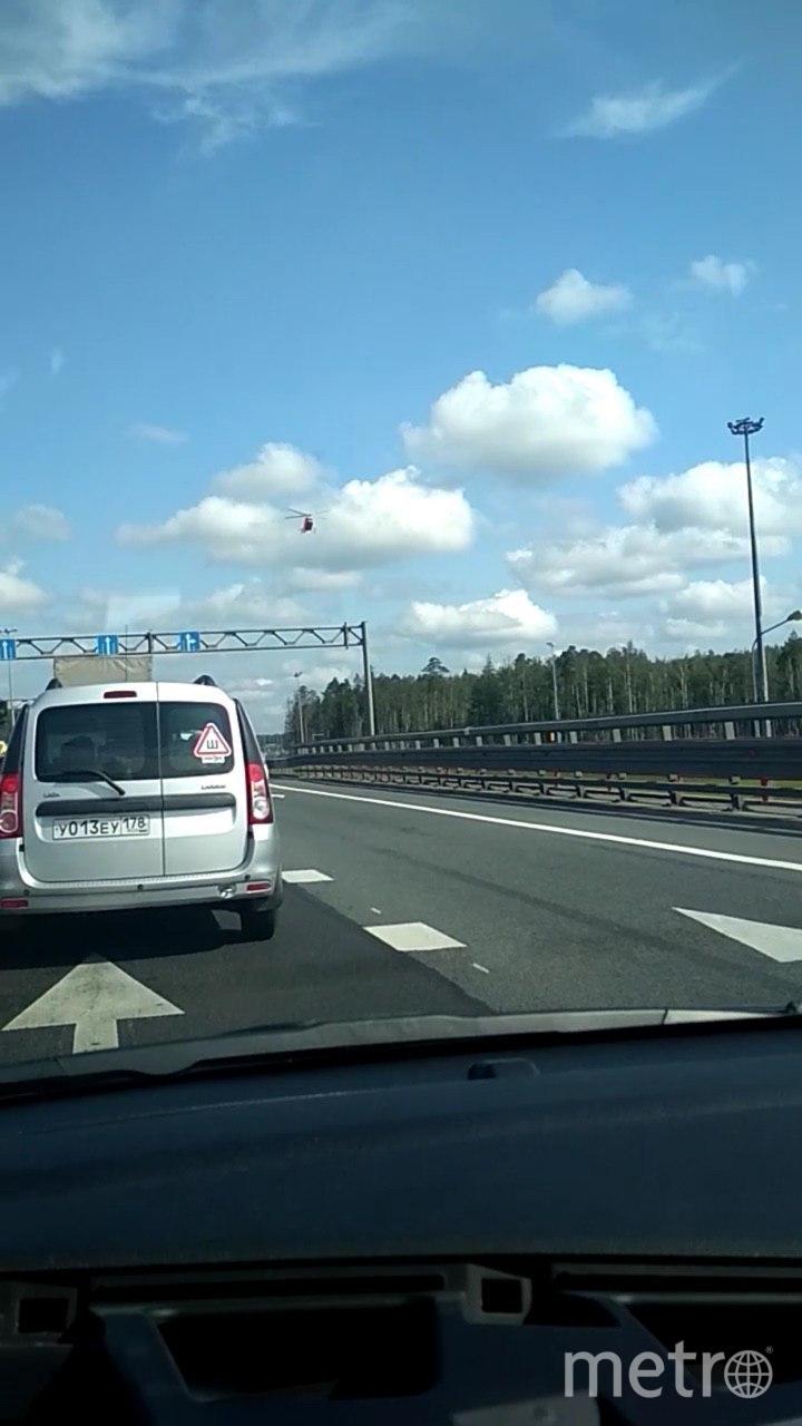 """Фото с места смертельного ДТП. Фото https://vk.com/spb_today, """"Metro"""""""