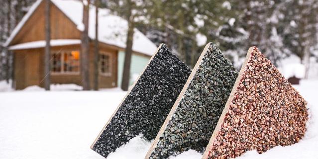 Плиты Eskosell с натуральной каменной крошкой.