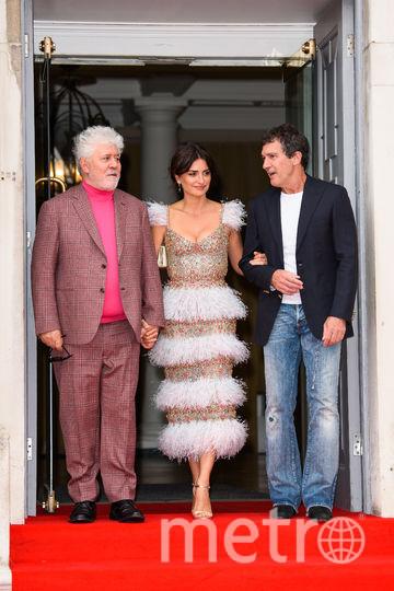 Педро Альмодовар, Пенелопа Крус и Антонио Бандерас. Фото Getty