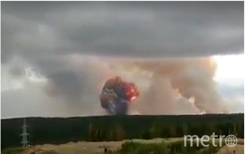 Взрыв на складе боеприпасов под Ачинском. Фото скриншот видео ren.tv