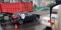 На МКАД столкнулись 5 машин: ДТП перекрыло 3 полосы