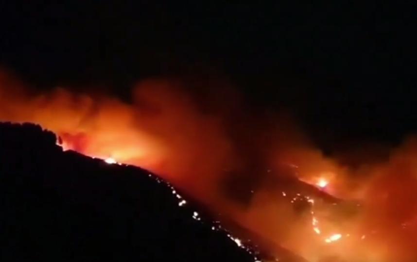 Около тысячи человек эвакуировано с Канарских островов из-за лесных пожаров. Фото Скриншот https://www.youtube.com/watch?v=KKmEw_38l5w, Скриншот Youtube