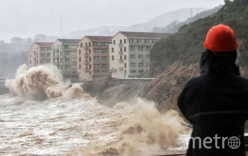 Число жертв тайфуна в Китае увеличилось до 44 человек. Фото AFP