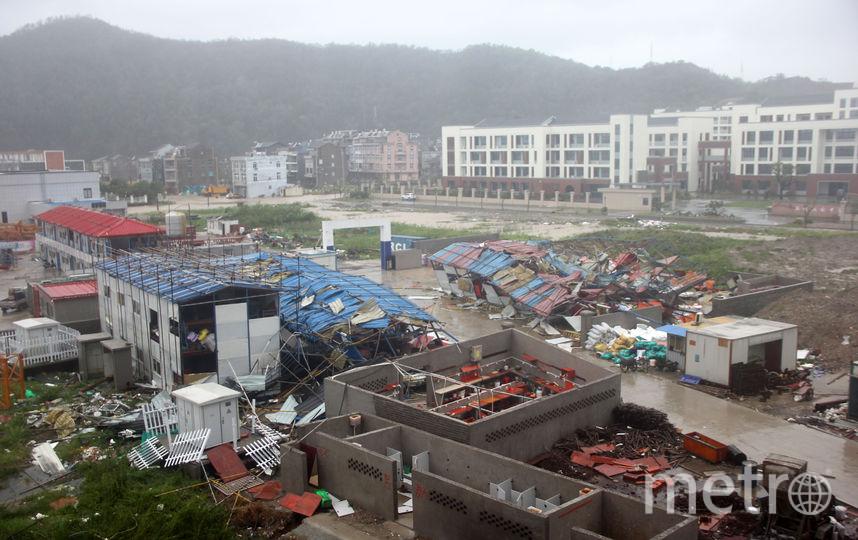 """Последствия тайфуна """"Лекима"""" в Китае. Фото AFP"""