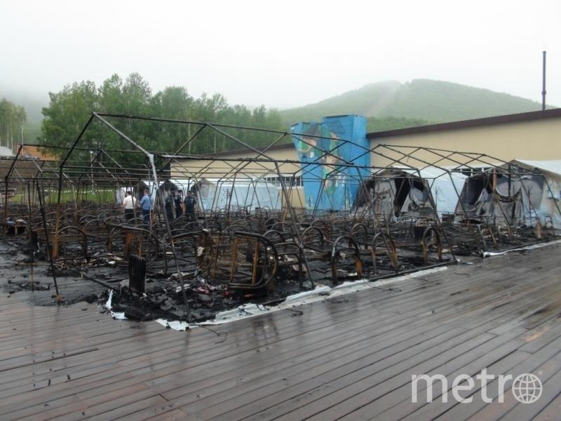 Страшный пожар в детском палаточном лагере произошёл в ночь на 23 июля. Фото ГУ МЧС России по Хабаровскому краю