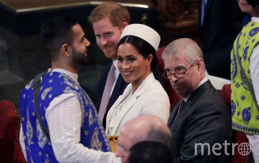 Принц Гарри, Меган Маркл и принц Эндрю. Фото Getty