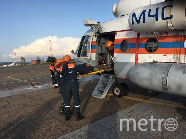 Тульские спасатели эвакуировали туриста в Бурятии. Фото пресс-служба МЧС по Бурятии