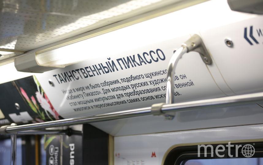 """Новый тематический поезд запустили в подземке Москвы. Фото Предоставлено пресс-службой метрополитена, """"Metro"""""""