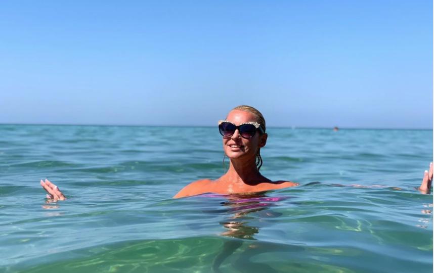 Волочкова на отдыхе в Греции. Фото Instagram.com/volochkova_art