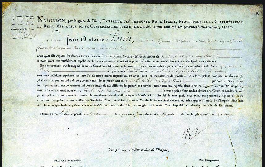 Документ 1812 года, подписанный императором Наполеоном. Фото пресс-служба музея
