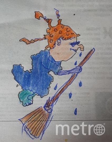 """""""Дождевая ведьмочка, которая часто летает над Москвой"""". Фото Маргарита Короткова, """"Metro"""""""