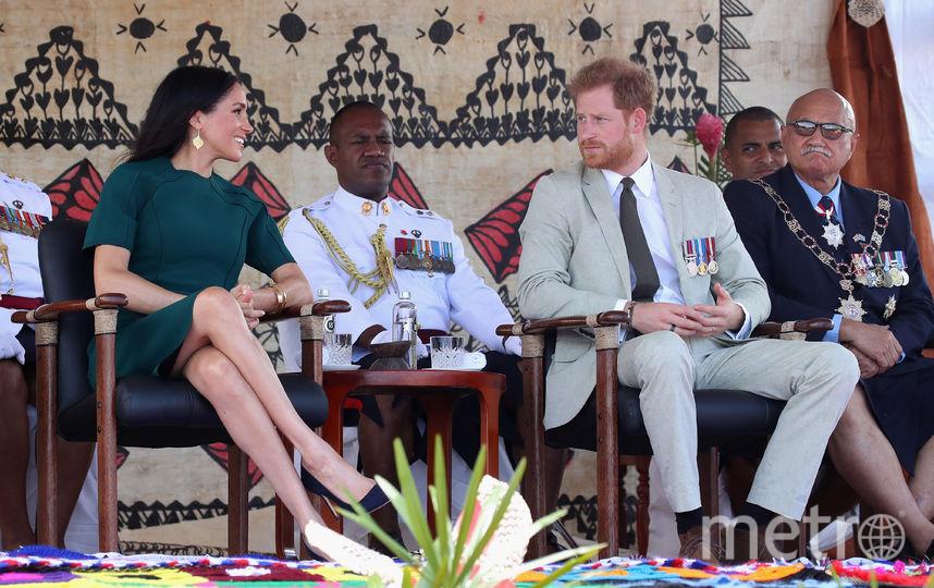 Принц Гарри и Меган Маркл во время визита в Фиджи. Фото Getty