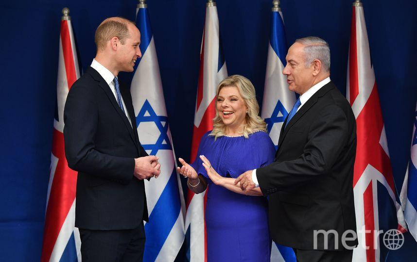 Принц Уильям, Сара Нетаньяху и Биньямин Нетаньяху. Фото Getty