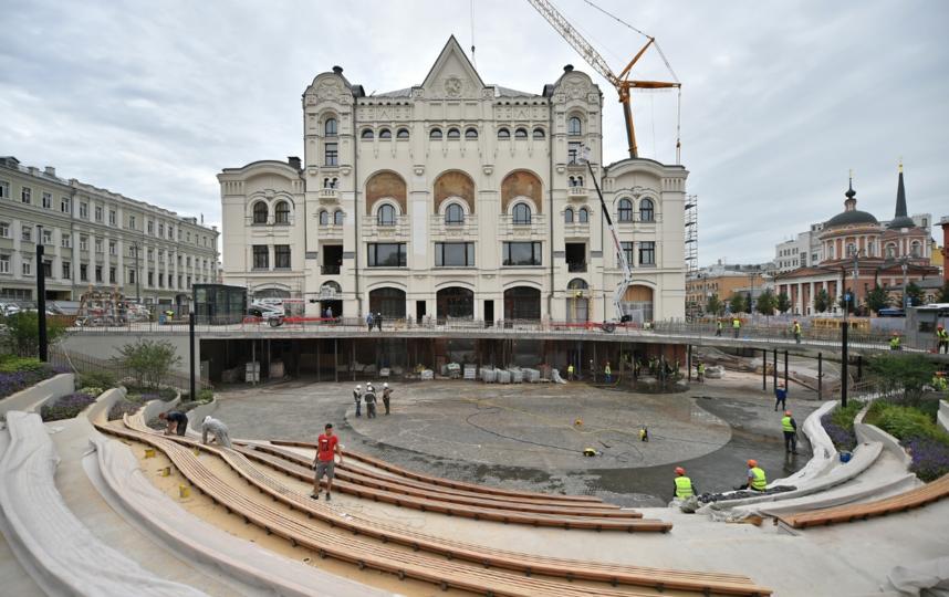 Реконструкция здания Политехнического музея. Фото скриншот stroi.mos.ru