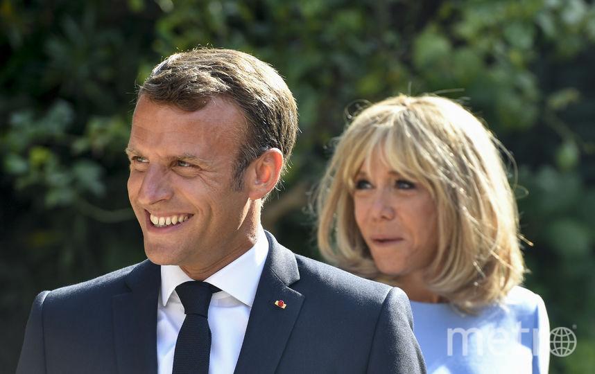 Брижит Макрон с мужем. Фото AFP