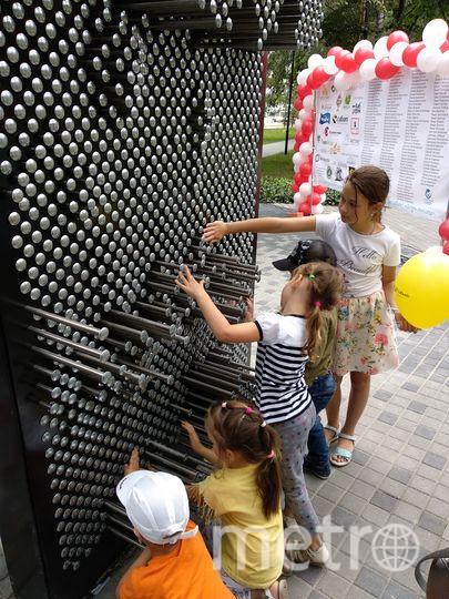 """Дети первыми проверили пинборд. Фото Лилия Мисинёва, """"Metro"""""""