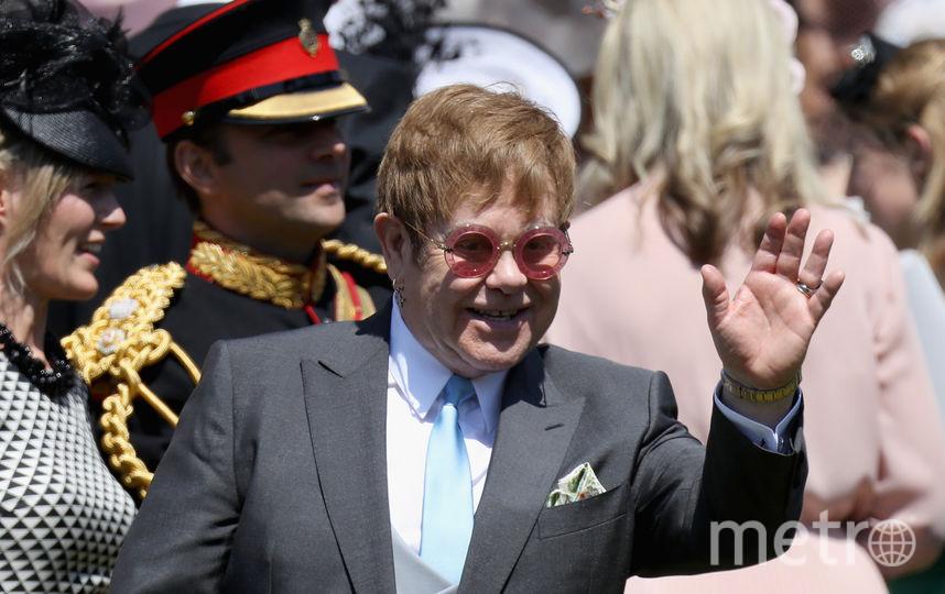 Элтон Джон был на свадьбе принца Гарри и Меган Маркл. Фото Getty