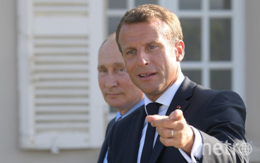Владимир Путин и Эммануэль Макрон. Фото AFP