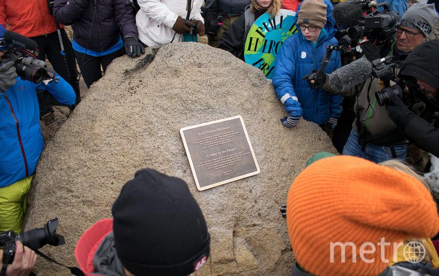 В Исландии простились с растаявшим ледником. Фото AFP