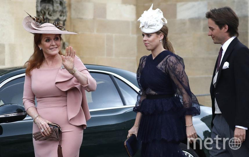 Сара Фергюсон (мать принцессы), Беатрис и Эдоардо, 2019 год. Фото Getty