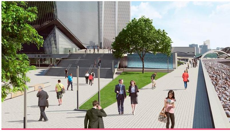 Возможный вид будущей набережной. Фото пресс-служба Лахта Центра