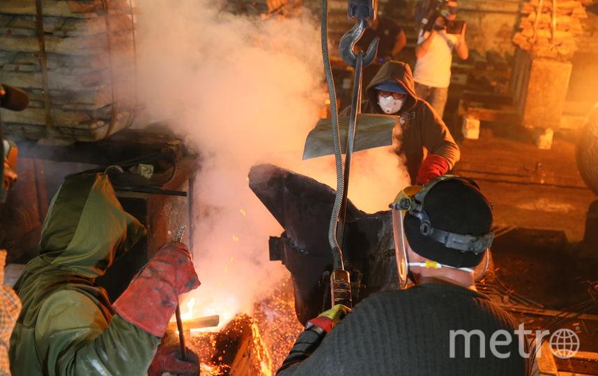В Литейном цеху Завода Лепсе в Солнечногорске начался отлив 25-метровой скульптуры солдата для Ржевского мемориала. Фото Василий Кузьмичёнок