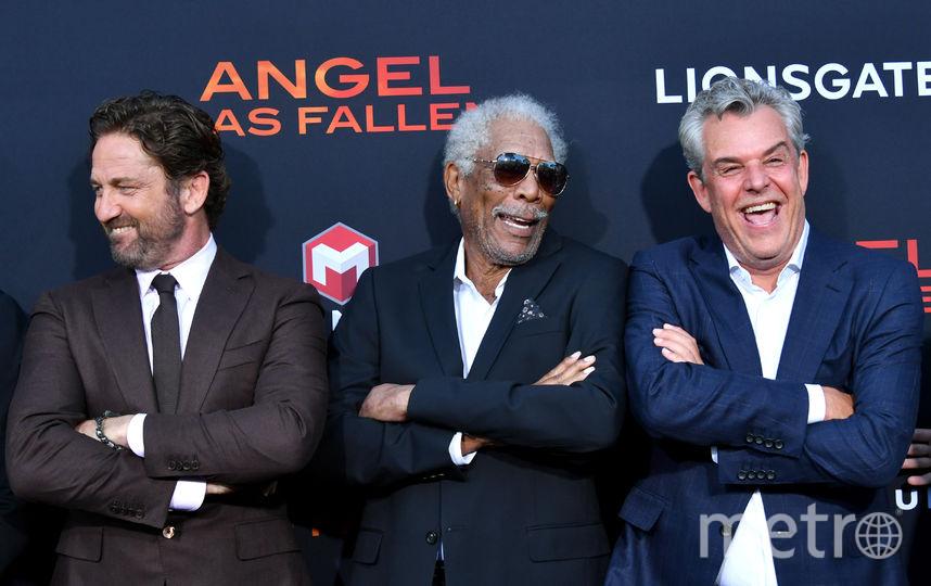 Джерард Батлер, Морган Фримен и Дэнни Хьюстон. Фото Getty