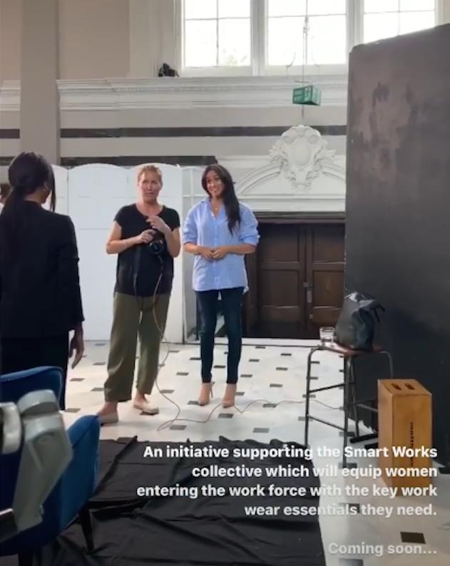 Меган Маркл на фотосессии. Фото Скриншот Instagram: @sussexroyal