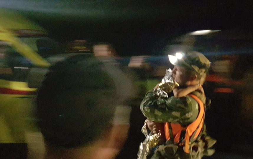 Поздно вечером 21 августа девочку нашли в буреломе примерно в двух километрах от деревни. Фото  СК РФ по Нижегогородской области.