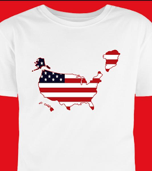 """В США появились в продаже футболки с """"американской"""" Гренландией. Фото скриншот contribute.nrcc.org"""