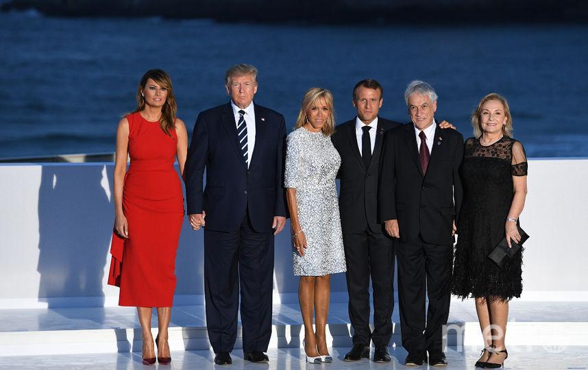 Мелания Трамп на саммите G7 во Франции. Фото Getty