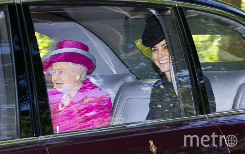 Елизавета II, Кейт Миддлтон и принц Уильям. Фото Getty